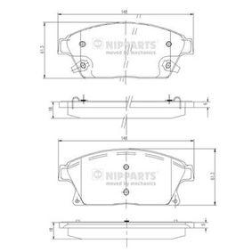 Bremsbelagsatz, Scheibenbremse Höhe: 61,2mm, Dicke/Stärke: 18mm mit OEM-Nummer 1605135