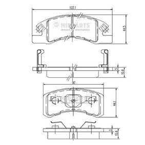 Bremsbelagsatz, Scheibenbremse N3606021 Cuore 6 (L251, L250_, L260_) 1.0 Bj 2012
