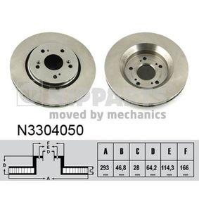 Brake Disc Brake Disc Thickness: 28mm, Num. of holes: 5, Ø: 293mm with OEM Number 45251SWWG01