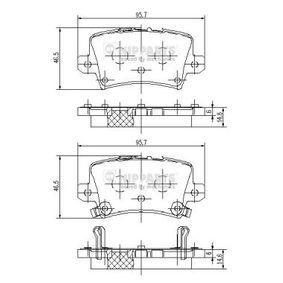 Brake Pad Set, disc brake J3614018 CIVIC 8 Hatchback (FN, FK) 2.2 CTDi (FK3) MY 2018
