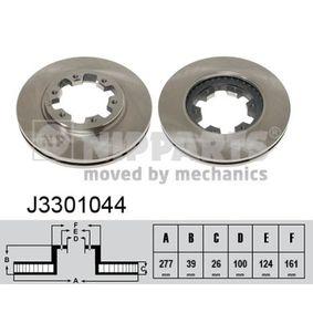 Bremsscheibe Bremsscheibendicke: 26mm, Lochanzahl: 6, Ø: 277mm mit OEM-Nummer 1 954 433