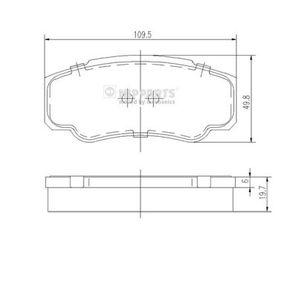 Bremsbelagsatz, Scheibenbremse Breite: 49,8mm, Dicke/Stärke: 19,7mm mit OEM-Nummer 4254 68