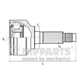 Gelenksatz, Antriebswelle Außenverz.Radseite: 26, Innenverz. Radseite: 30 mit OEM-Nummer 44014-SMG-E00