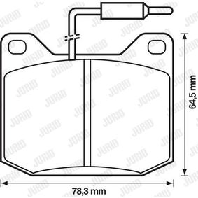 Brake Pad Set, disc brake Height 1: 65mm, Thickness: 17mm with OEM Number 13675000