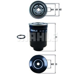 Fuel filter Height: 139mm, Housing Diameter: 87mm with OEM Number 42072 AG060