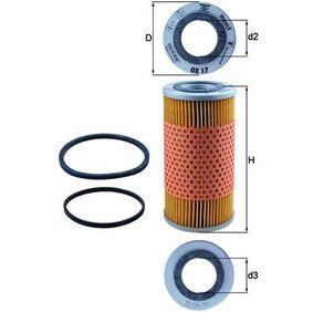 Ölfilter Ø: 69,8mm, Innendurchmesser 2: 33,3mm, Höhe: 141,0mm, Höhe 1: 138,0mm mit OEM-Nummer 3 136 046 R 91