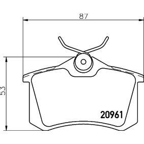 Bremsbelagsatz, Scheibenbremse Breite: 87mm, Höhe: 53mm, Dicke/Stärke: 17,4mm mit OEM-Nummer 425 467
