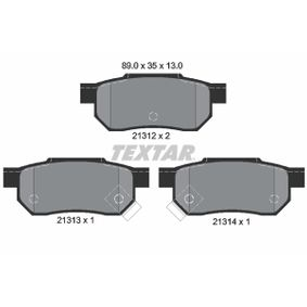 Комплект спирачно феродо, дискови спирачки ширина: 89,0мм, височина: 35,0мм, дебелина: 13мм с ОЕМ-номер GBP90316AF