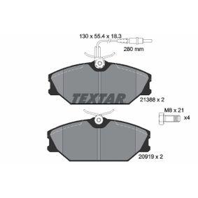 Bremsbelagsatz, Scheibenbremse Breite: 130,0mm, Höhe: 55,4mm, Dicke/Stärke: 18,3mm mit OEM-Nummer 7701203070