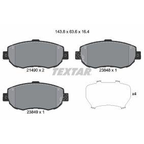 TEXTAR  2149001 Bremsbelagsatz, Scheibenbremse Breite: 143,8mm, Höhe: 63,6mm, Dicke/Stärke: 17,1mm