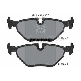 Bremsbelagsatz, Scheibenbremse Breite: 123,2mm, Höhe: 45mm, Dicke/Stärke: 16,3mm mit OEM-Nummer S5058110