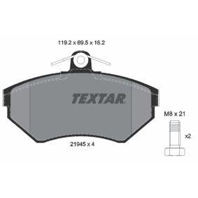 Bremsbelagsatz, Scheibenbremse Breite: 119,2mm, Höhe: 69,5mm, Dicke/Stärke: 16,2mm mit OEM-Nummer 1HM 698 151A
