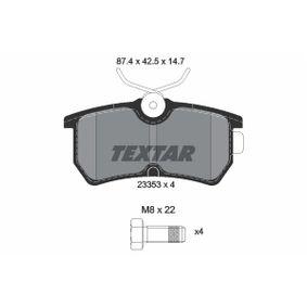 Bremsbelagsatz, Scheibenbremse Breite: 87,4mm, Höhe: 42,5mm, Dicke/Stärke: 14,7mm mit OEM-Nummer 98AX2M008BA