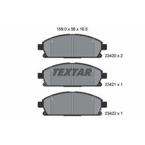 Комплект спирачно феродо, дискови спирачки 2342001 MDX (YD) 3.5 (YD1) Г.П. 2004