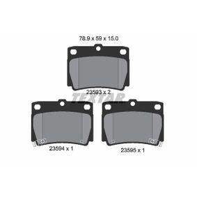 Kit pastiglie freno, Freno a disco 2359301 Pajero Sport 1 SUV (K7_, K9_) 2.0 GDi 4WD ac 2001