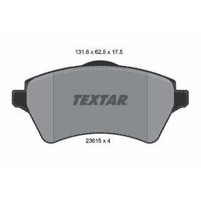 Bremsbelagsatz, Scheibenbremse Breite: 131,6mm, Höhe: 61,9mm, Dicke/Stärke: 17,5mm mit OEM-Nummer 236.15
