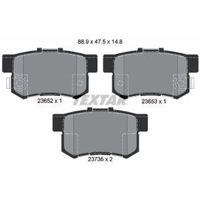 2004 Honda CR-V Mk2 2.0 Brake Pad Set, disc brake 2365201