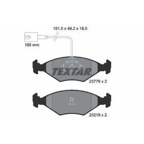 TEXTAR  2377601 Bremsbelagsatz, Scheibenbremse Breite: 151,5mm, Höhe: 49,3mm, Dicke/Stärke: 18mm