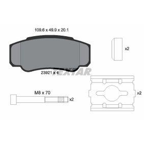 Bremsbelagsatz, Scheibenbremse Breite: 109,6mm, Höhe: 49,9mm, Dicke/Stärke: 20,1mm mit OEM-Nummer 4254-68