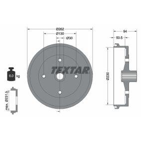 Bremstrommel Trommel-Ø: 230mm, Br.Tr.Durchmesser außen: 262mm mit OEM-Nummer 113.501.615J