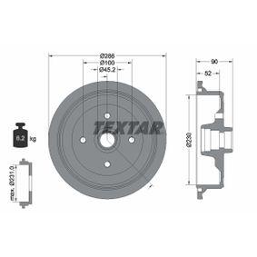 Bremstrommel Trommel-Ø: 230mm, Br.Tr.Durchmesser außen: 286mm mit OEM-Nummer 147 501 615 A