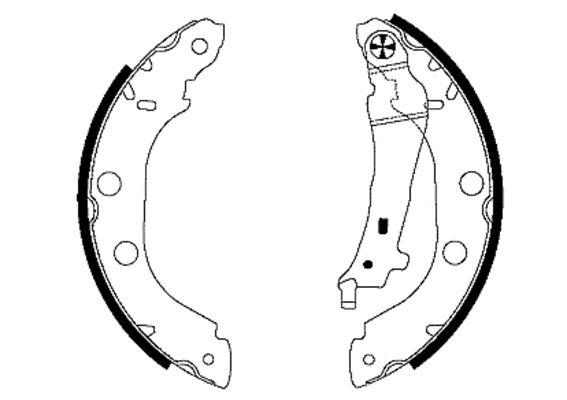 TEXTAR  91052700 Bremsbackensatz Breite: 42mm