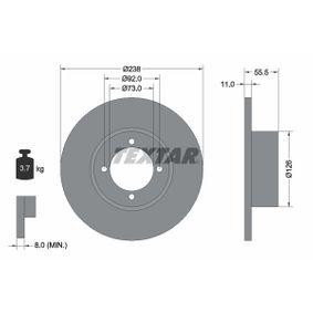 Bremsscheibe Bremsscheibendicke: 11mm, Ø: 238mm mit OEM-Nummer 569008