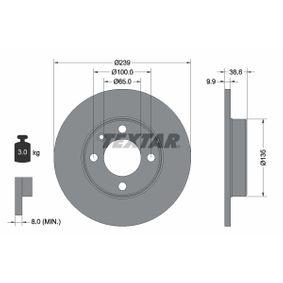 Bremsscheibe Bremsscheibendicke: 9,9mm, Ø: 239mm mit OEM-Nummer 811 615 301C