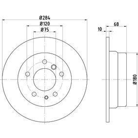TEXTAR  92026600 Bremsscheibe Bremsscheibendicke: 10,0mm, Ø: 284mm