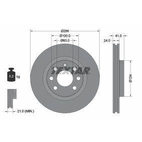 Bremsscheibe Bremsscheibendicke: 24mm, Ø: 256mm mit OEM-Nummer 90 468 509