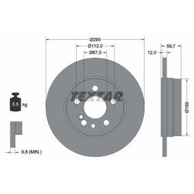 Bremsscheibe Bremsscheibendicke: 12,0mm, Ø: 290mm mit OEM-Nummer 140.423.0612