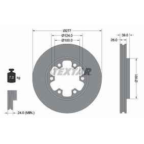 Bremsscheibe Bremsscheibendicke: 26mm, Ø: 277mm mit OEM-Nummer 1954433