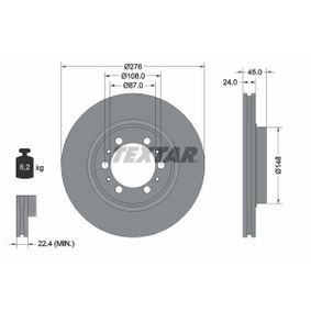 Brake Disc Brake Disc Thickness: 24mm, Ø: 276mm with OEM Number MB928697