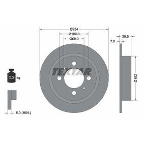 Bremsscheibe Bremsscheibendicke: 7mm, Ø: 234mm mit OEM-Nummer 43206-58Y02