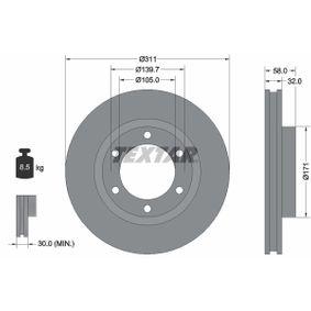 Bremsscheibe Bremsscheibendicke: 32mm, Ø: 311mm mit OEM-Nummer 43512 60 090