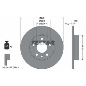 Bremsscheibe Bremsscheibendicke: 11,0mm, Ø: 240mm mit OEM-Nummer 71 739 571