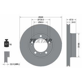 Bremsscheibe Bremsscheibendicke: 24,0mm, Ø: 298mm mit OEM-Nummer 986 351 401 05