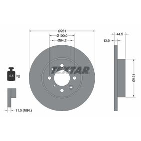 Спирачен диск дебелина на спирачния диск: 13,0мм, Ø: 261мм с ОЕМ-номер GBD90841