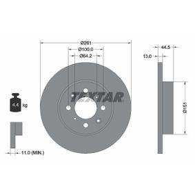 Спирачен диск дебелина на спирачния диск: 13,0мм, Ø: 261мм с ОЕМ-номер SDB 100500