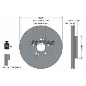 Bremsscheibe Bremsscheibendicke: 26,0mm, Ø: 300mm mit OEM-Nummer 82 00 007 122