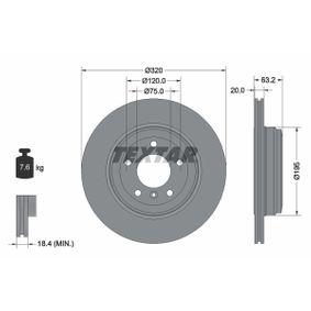 TEXTAR  92122700 Bremsscheibe Bremsscheibendicke: 20,0mm, Ø: 320mm