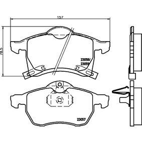 Brake Pad Set, disc brake 2305701 Astra Mk5 (H) (A04) 1.4 MY 2005
