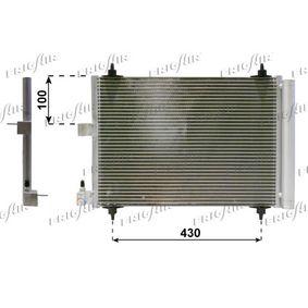 Kondensator, Klimaanlage Netzmaße: 515 x 365 x 16 mm, Kältemittel: R 134a mit OEM-Nummer 6455.CP
