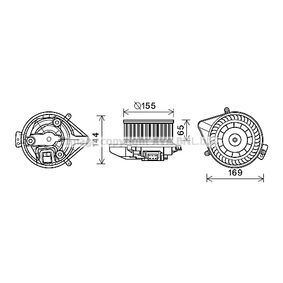 PRASCO Elektromotor, Innenraumgebläse AI8371 für AUDI A4 Avant (8E5, B6) 3.0 quattro ab Baujahr 09.2001, 220 PS