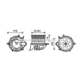 PRASCO  BW8461 Elektromotor, Innenraumgebläse