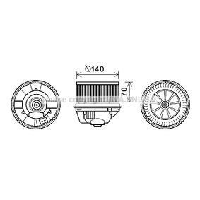 Elektromotor, Innenraumgebläse mit OEM-Nummer 3M5H-18456-EC