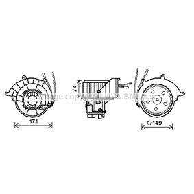 Elektromotor, Innenraumgebläse mit OEM-Nummer 9192935