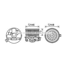 Elektromotor, Innenraumgebläse mit OEM-Nummer 77 01 062 226