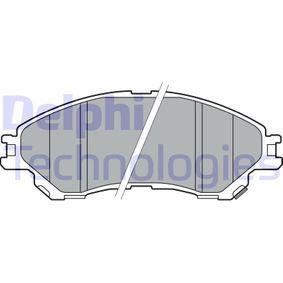 Bremsbelagsatz, Scheibenbremse Höhe: 54mm, Dicke/Stärke 2: 16mm mit OEM-Nummer 55810 61M00