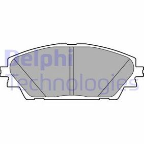 Brake Pad Set, disc brake Height 2: 55mm, Height: 55mm, Thickness 1: 16mm, Thickness 2: 16mm with OEM Number BHY1-33-28ZA9C